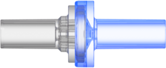 "Check Valve Pocket for .161"" (4.0 mm) OD tubing to  .161"" (4.0 mm) OD tubing Cracking Pressure 1.450 - 4.351 psig Flow Rate max 200 ml/min Clear and Blue MABS w/Silicone Diaphragm"